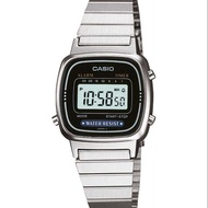 นาฬิกา รุ่น LA670WEGB CASIO นาฬิกาข้อมือมือ นาฬิกาผู้หญิง DIGITAL สายสแตนเลส รุ่น LA670WEGB-1B สีดำ ของแท้100% ประกันศูนย์CASIO 1 ปี  จากร้าน MIN WATCH