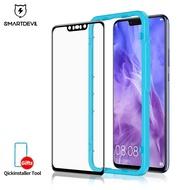 SmartDevil Full Cover Tempered Glass Protective Film For Huawei Nova 3 Nova 3i Nova 2s , Clear or Anti-Blue, Black