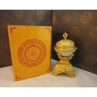 佛教用品尼泊爾工藝 手工純銅鎏金雕花托巴 嘎巴拉碗 高19cm