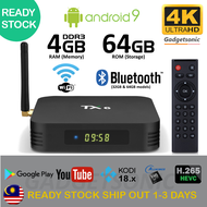 New TX6 TvBox 4GB+64GB (Over 10k Channels+Apps) H6 2.4G 5G Dual WiFi Bluetooth 4K Smart Android Box Malaysia IPTV Player