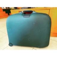 二手老件/新秀麗Samsonite深藍行李箱旅行箱/硬殼/工具箱/收納箱/復古懷舊/創意市集擺攤