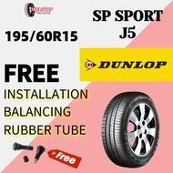 DUNLOP SP Sport J5 195/60R15 (With Installation) TYRE 15 inch tayar kereta AUTOMOTIVE new car tire car tyre