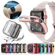 Watch Cover case For Apple Watch series 6 5 4 3 2 1 case 42mm 38m 40mm 44mm Slim TPU case Screen Protector for i-Watch 6 5 4 44mm