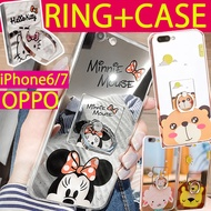 Latest Mirror Case+finger ring holder for iPhone 7 7 Plus iPhone 6 6s OPPO R11 R9S R9 R9S Plus