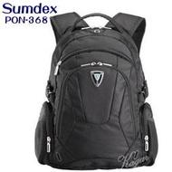 加賀皮件 sumdex 15.4吋 時尚休閒電腦後背包/筆電包/電腦包/後背包/背包 附包包雨衣套 PON-368