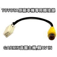 TOYOTA SIENTA CHR RAV4 PRIUS C原廠車機 GARMIN音響主機專用倒車顯影轉接線AV IN