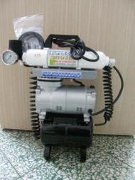新竹快樂堂模型 現貨 仙盈CPM-280A 空壓機二槽雙淨化全自動壓縮機+2公升鋼瓶+濾水棒+穩壓棒 (完全淨化不噴水)