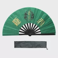 Green color Tai chi fan bamboo kung fu fan china wind