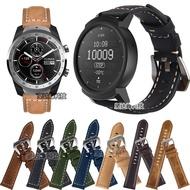 Ticwatch 2/E手錶真皮瘋馬紋錶帶Ticwatch Pro錶帶磨砂皮錶帶