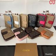 กระเป๋าสตางค์coach กระเป๋าสตางค์โค้ช ขนาด 5.5 นิ้ว รุ่นพับใบสั้น