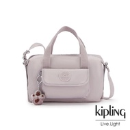 【KIPLING】優雅高級灰波士頓手提兩用包-BRYNNE