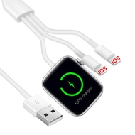 Magnetic Wireless Charger 3 In 1สำหรับApple Watch Charger 6 5 4 3 SE USB Inductionสายชาร์จQI dock StationสำหรับIphone