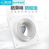 止回閥 潛水艇衛生間浴霸排氣扇出風口止逆閥廁所公共煙道排風管止回閥 宜品