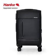 HANKE 22 นิ้ว Unisex กระเป๋าลากกระเป๋ากระเป๋าเดินทางกระเป๋านุ่ม Mute วงล้อหมุนไนลอนมือจับโลหะผสมอลูมิเนียม 8813