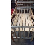 wooden crib for baby