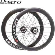 Litepro AERO Folding Bike 16 Inch 349 V Disc Brake 11 Speed Wheelset 4 Sealed Bearing Alloy Wheels BMX Bicycle 30mm Rims