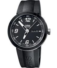 ORIS 豪利時 0173576514174-0742506  經典賽車陶圈機械腕錶/黑面42mm