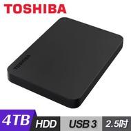 Toshiba 東芝 Canvio Basics 黑靚潮lll 4TB 2.5吋行動硬碟 黑