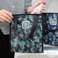 Chuyu 迷彩保冷保溫袋/野餐手提袋/鋁箔便當袋