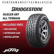 Bridgestone Dueler A/T 697 D697 All Terrain Tyre (FREE INSTALLATION) 255/70R15 265/70R15 245/70R16 265/70R16 265/65R17 31/10.5R15