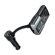 Acekool Bluetooth 5.0 FM Transmitter for car with Bass Booster, Dual USB Ports and 1.77