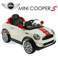 Mini cooper原廠授權 兒童電動車 遙控電動車 新款白色【小櫻桃嬰兒用品】