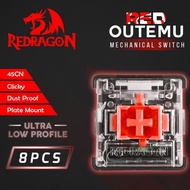 Redragon ROMS-DPULP-RD Outemu Red Switch Dustproof Ultra Low Profile