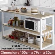 Kitchen Storage Rack Shelves Organizer Oven Microwave Household Space Saver Furniture Rak Dapur Oven Bertingkat Besar
