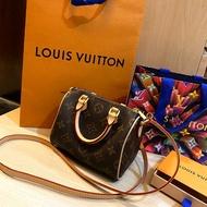 Louis Vuitton Lv nano speedy 全新 路易威登波士頓包 mini speedy