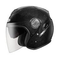 ZEUS 瑞獅 2019最新款 ZS-625 六角碳纖維 3/4帽款 半罩 安全帽