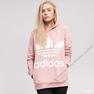 Adidas Originals Hoodie 三葉草 LOGO 裸粉 白 帽T 女款 基本款 DH3134
