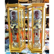 2尺7 太子樓 安金 雙色 錫燈 含框 外框寬25公分 台灣安規電線 LED燈泡*2