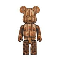 [In Stock] BE@RBRICK x Karimoku Parquet 400% (2nd gen) bearbrick yosegi Medicom Toy 25th Anniversary Exhibition Exc