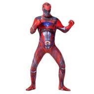 ผู้ใหญ่ Red Power Ranger 2ND Skin Suit zentai ชุดฮาโลวีน