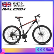 RALEIGH Mountain Bike 24/27/30 Speed 24/26-inch Disc Brakes Shock Unisex Student Fitness Off-road Racing  High Carbon Steel Road Bike
