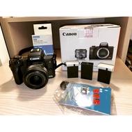 Canon m50+15-45mm kit 鏡頭+相機包 充電器 電池三顆 (二手可議價北車可面交)