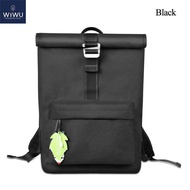 """WIWUกระเป๋าเป้แล็ปท็อปแบบบางสำหรับมืออาชีพ,กระเป๋าสะพายหลังเหมาะสำหรับเดินทางไปโรงเรียนและธุรกิจขนาด15.6 """"ป้องกันการโจรกรรม"""