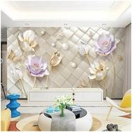 立體電視背景墻8D簡約現代客廳影視墻紙墻布裝飾壁畫沙髪壁紙LX