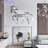 hp> Animal Horse Stereo Acrylic Mirror Wall Sticker Tv Background Wall Decoration