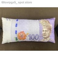 ✴❏[ 100% Cotton ] Malaysia Money Pillow With Zip# Bantal Ringgit Malaya + Zip