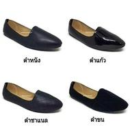 รองเท้าคัชชู ส้นเตี้ย ส้นแบน รุ่น 339 สีดำ