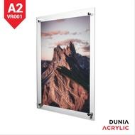frame foto akrilik - display akrilik - akrilik frame - frame acrylic a2 2-3mm
