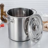 湯桶 304商用不銹鋼桶帶蓋不銹鋼湯桶大容量加厚大湯鍋儲水桶圓桶油桶『LM2030』
