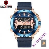 KADEMAN K806 Men's Multifunctional Calendar Double Inserts Electronic Watch Sports Waterproof Belt Watch Alloy Shell Hig