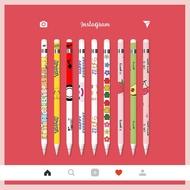 ❖۩  [พร้อมส่ง🚗] ฟิล์มปากกา Apple pencil sticker 1/2 set แบบด้านกันลื่น ลายการ์ตูน แถมฟรี จุกปากกาซิลิโคนอย่างดี💗