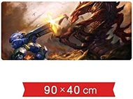 Mouse pad Mouse Pad Table Mat StarCraft 2 Game Characters Marine VS Hydralisk Terran Zerg Fierce Battle Super Large Lock Skid Game Mouse Pad For Desk Laptop PC Keyboard Pad