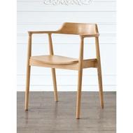 北歐實木椅子 實木餐椅 廣島椅肯尼迪椅總統椅扶手椅靠背餐椅正版