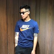 美國百分百【全新真品】Nike T恤 耐吉 短袖 T-shirt 短T 運動 休閒 經典大logo 深藍 S號 I010