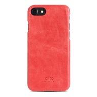 【alto】iPhone SE2/7/8 真皮手機殼背蓋 Original - 珊瑚紅(alto  義大利真皮皮革)
