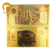 [10pcs/lot Malaysia 50 Ringgit Gold Banknote Colorful Banknotes for Souvenirs, Golden Bank Notes,10pcs/lot Malaysia 50 Ringgit Gold Banknote Colorful Banknotes for Souvenirs, Golden Bank Notes,]